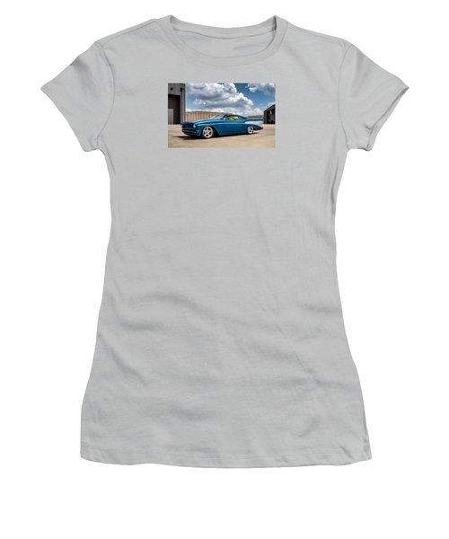 Women's T-Shirt (Junior Cut) featuring the digital art '57 Chevy Custom by Douglas Pittman