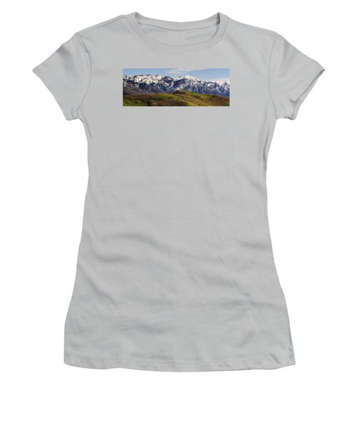 Wasatch Mountains Women's T-Shirt (Junior Cut) by Utah Images