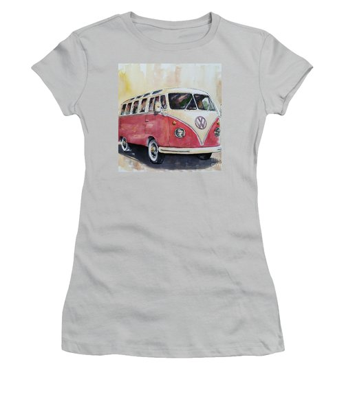 '63 V.w. Bus Women's T-Shirt (Junior Cut) by William Reed