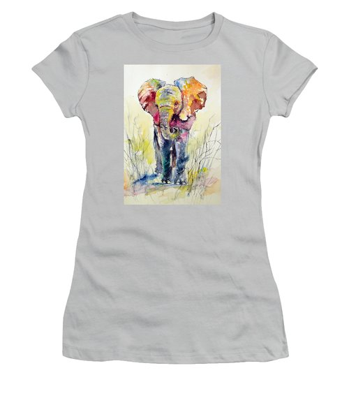 Elephant Women's T-Shirt (Junior Cut) by Kovacs Anna Brigitta