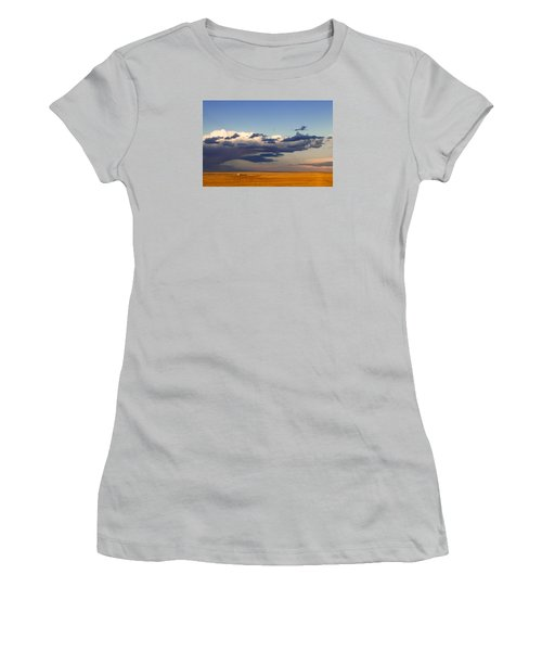 A Barn On The Prairie Women's T-Shirt (Junior Cut) by Monte Stevens