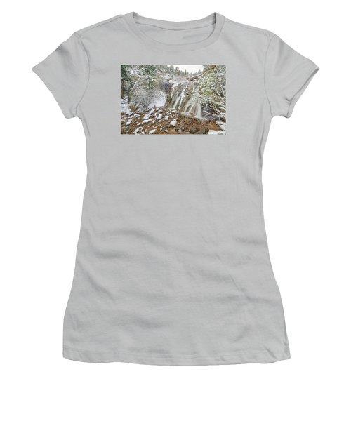 A Factitious Bridge In A Natural Environment  Women's T-Shirt (Junior Cut) by Bijan Pirnia