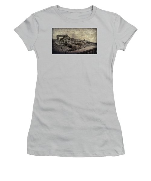 Women's T-Shirt (Junior Cut) featuring the photograph A Long Day On The Trail by Annette Hugen
