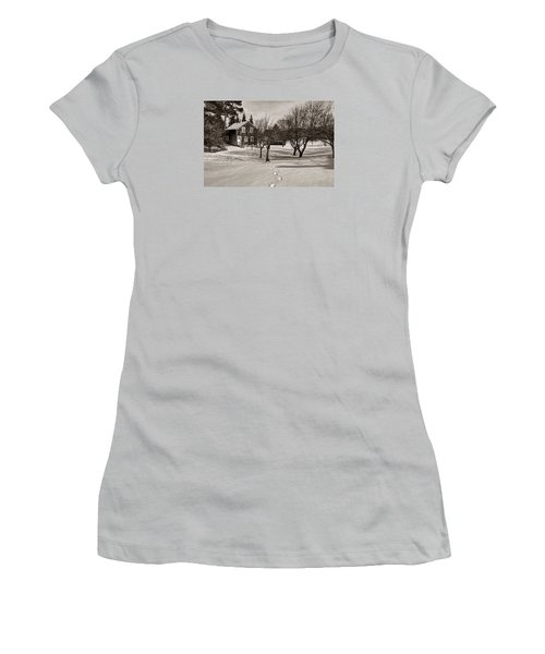 A Path To Home Women's T-Shirt (Junior Cut) by Janice Adomeit