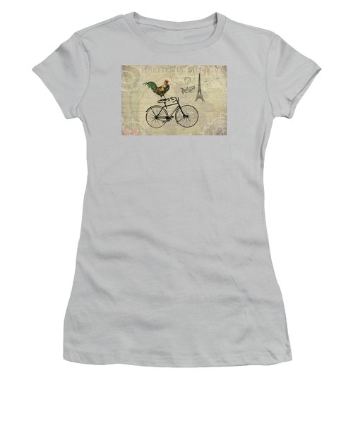 A Rooster In Paris Women's T-Shirt (Athletic Fit)