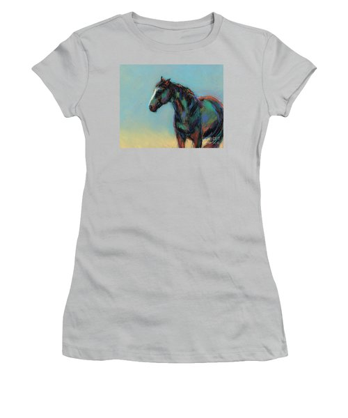 Women's T-Shirt (Junior Cut) featuring the pastel A Soft Breeze by Frances Marino