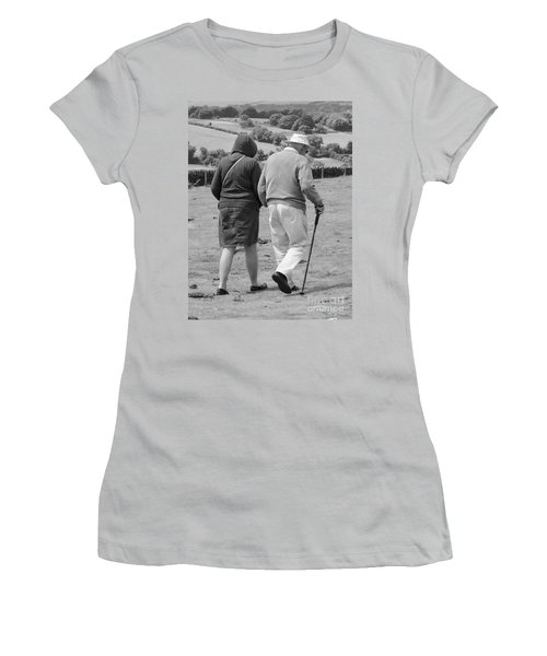 A Sunday Stroll In The Country Women's T-Shirt (Junior Cut) by Linsey Williams