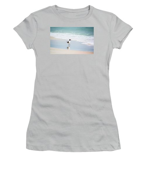 A Walk On The Beach Women's T-Shirt (Junior Cut) by Shelby  Young