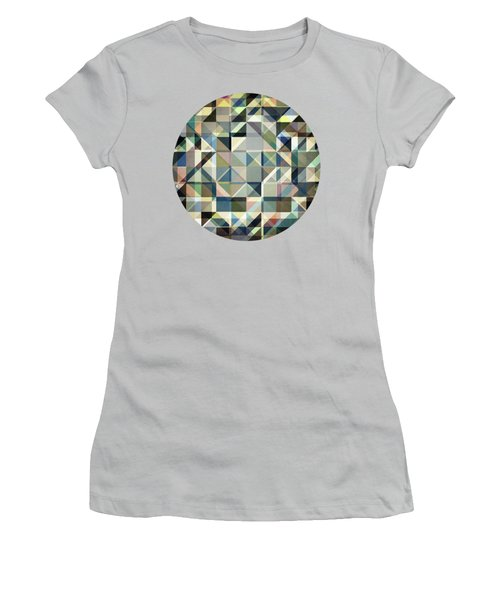 Abstract Earth Tone Grid Women's T-Shirt (Athletic Fit)
