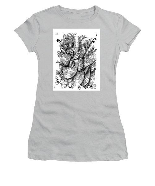 Abstract Women's T-Shirt (Junior Cut) by Quwatha Valentine