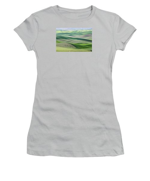 Women's T-Shirt (Junior Cut) featuring the photograph Across The Valley by Wanda Krack