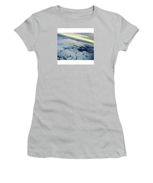 Edinburgh Winter Sunset Women's T-Shirt (Junior Cut) by Patsy Jawo
