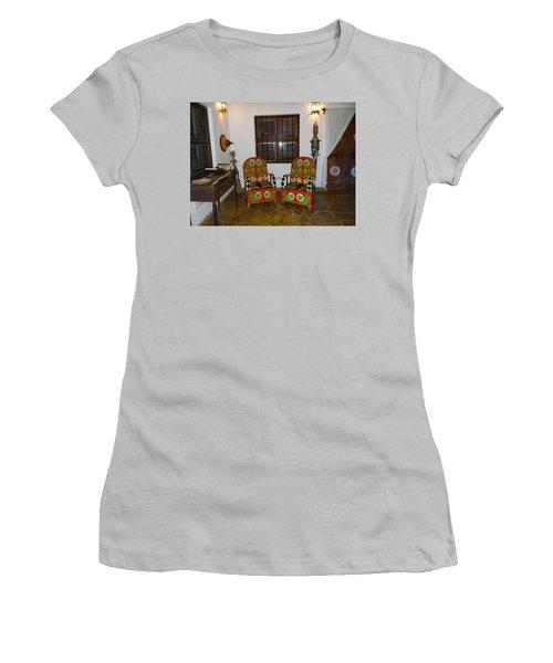 African Interior Design 5 Beaded Chairs Women's T-Shirt (Junior Cut) by Exploramum Exploramum