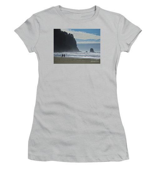 Women's T-Shirt (Junior Cut) featuring the photograph Cape Meares by Michele Penner