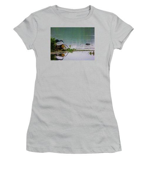Ah Dubble-dawg Dare Ya Women's T-Shirt (Junior Cut) by Kimo Fernandez