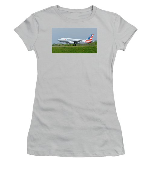 Airbus A319 Women's T-Shirt (Junior Cut) by Guy Whiteley