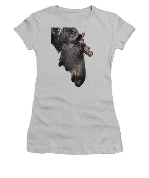 Alaskan Moose Women's T-Shirt (Athletic Fit)