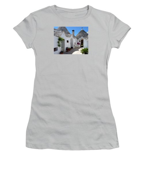 Alberobello Courtyard With Trulli Women's T-Shirt (Athletic Fit)