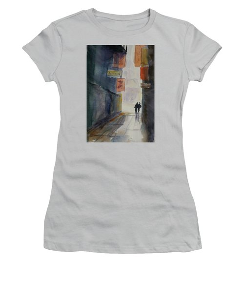 Alley In Chinatown Women's T-Shirt (Junior Cut) by Tom Simmons