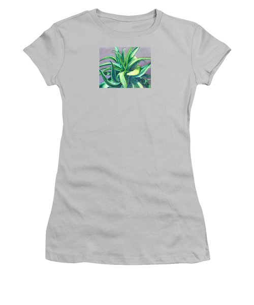Aloe Vera Watercolor Women's T-Shirt (Athletic Fit)