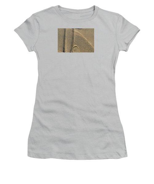 Women's T-Shirt (Junior Cut) featuring the photograph Along The Beach  by Lyle Crump