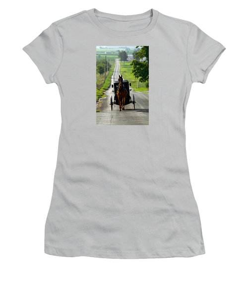 Amish Morning Commute Women's T-Shirt (Athletic Fit)