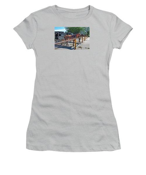 Amish Parking Lot Women's T-Shirt (Athletic Fit)