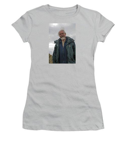 Women's T-Shirt (Junior Cut) featuring the photograph An Englishman In Castlerigg, Uk by Dubi Roman