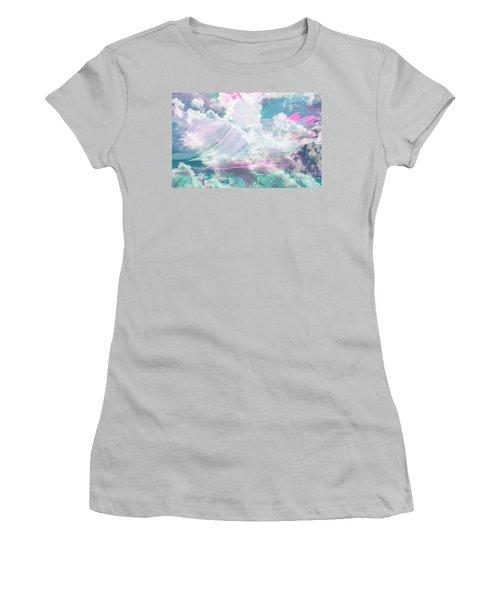 Angel Art Angel Of Peace And Healing Women's T-Shirt (Junior Cut) by Sherri's Of Palm Springs