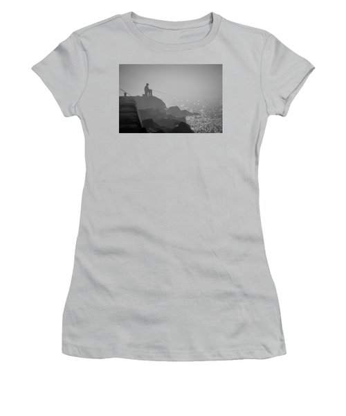 Angling In A Fog  Women's T-Shirt (Junior Cut) by Bill Pevlor