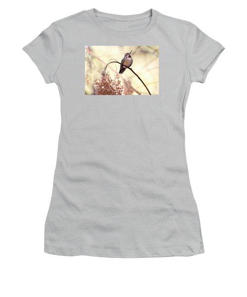 Anna's Hummingbird Closeup Women's T-Shirt (Junior Cut) by Peggy Collins