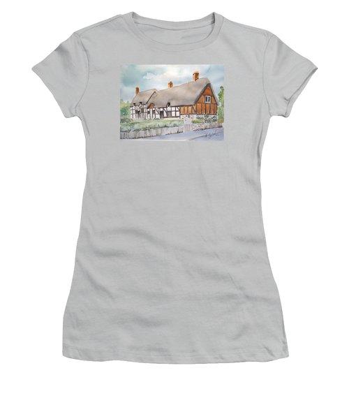Anne Hathaway's Cottage Women's T-Shirt (Junior Cut) by Marilyn Zalatan