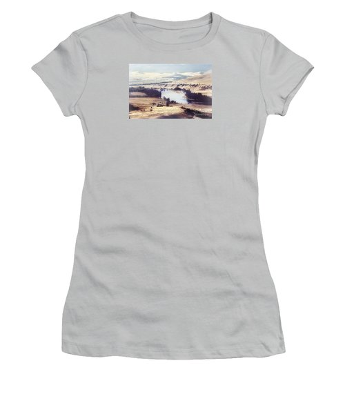 Another Flathead River Image Women's T-Shirt (Junior Cut) by Janie Johnson
