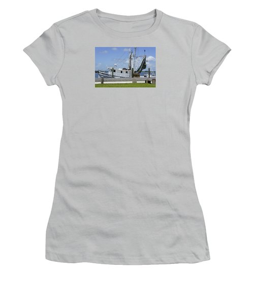 Appalachicola Shrimp Boat Women's T-Shirt (Junior Cut) by Laurie Perry