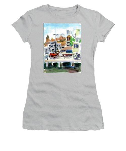 Aquatic Park1 Women's T-Shirt (Junior Cut) by Tom Simmons