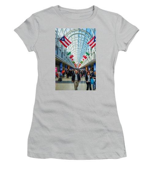 Arcade Of Flags Women's T-Shirt (Junior Cut) by John McArthur