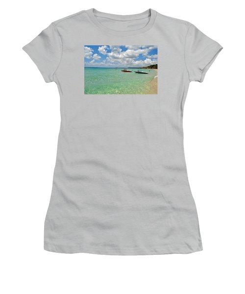 Argostoli Greece Beach Women's T-Shirt (Junior Cut) by Robert Moss