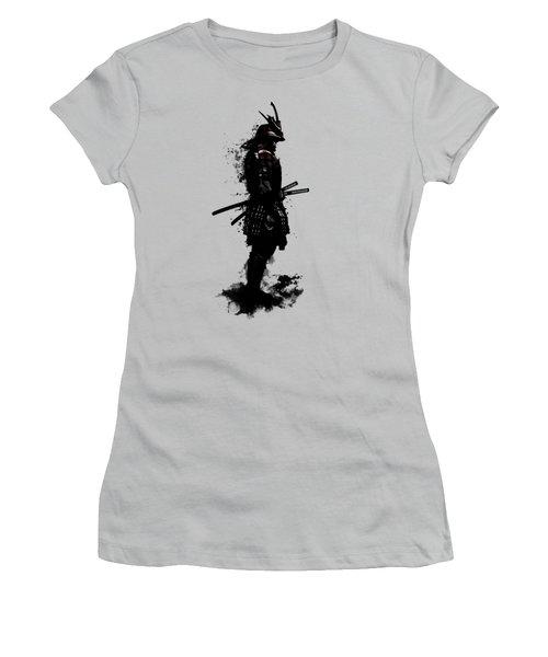Women's T-Shirt (Junior Cut) featuring the mixed media Armored Samurai by Nicklas Gustafsson