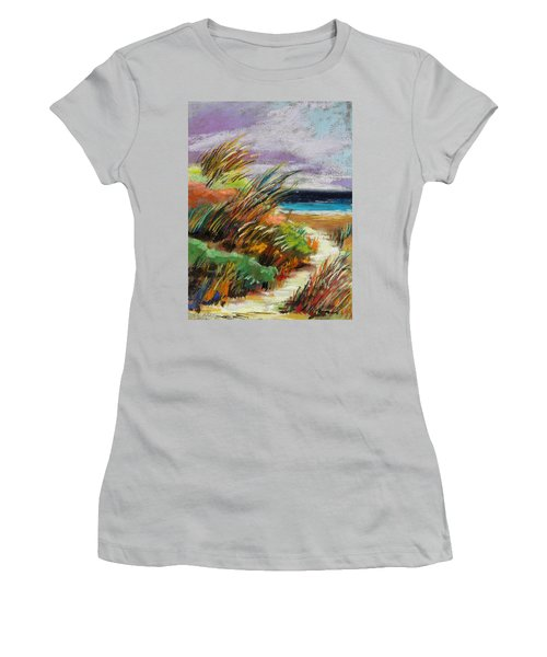 Women's T-Shirt (Junior Cut) featuring the painting Around The Dune by John Williams