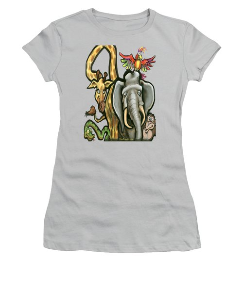 Zoo Animals Women's T-Shirt (Athletic Fit)