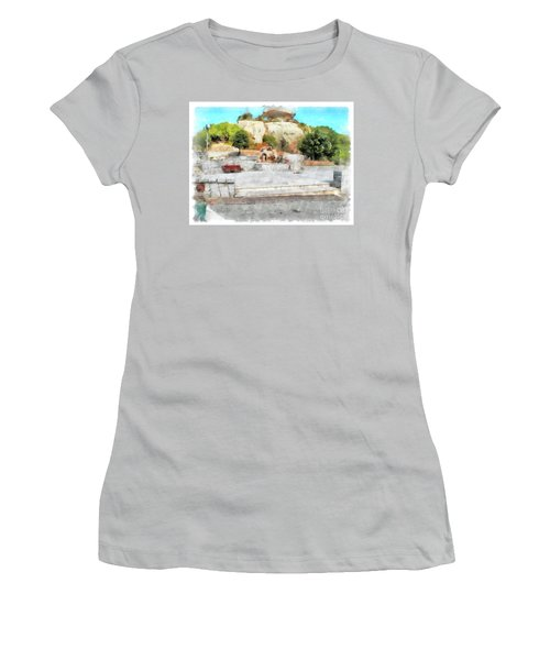 Arzachena Mushroom Rock With Children Women's T-Shirt (Athletic Fit)