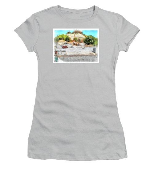 Arzachena Mushroom Rock With Children Women's T-Shirt (Athletic Fit)