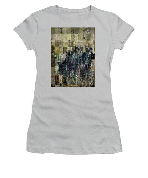 Women's T-Shirt (Junior Cut) featuring the painting Ascension - C03xt-159at2c by Variance Collections