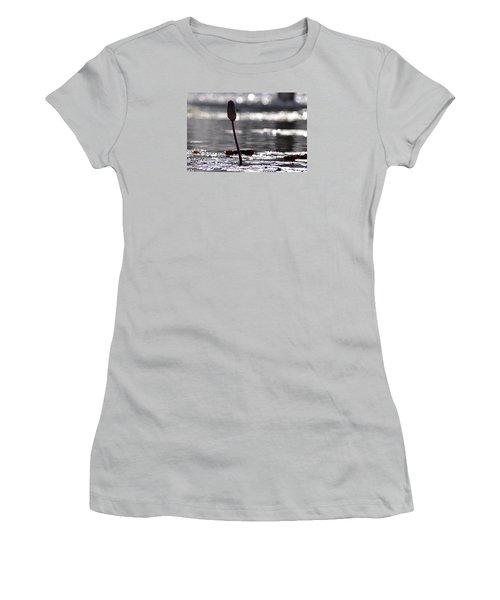 Women's T-Shirt (Junior Cut) featuring the photograph At Rabin Square, Tel Aviv by Dubi Roman
