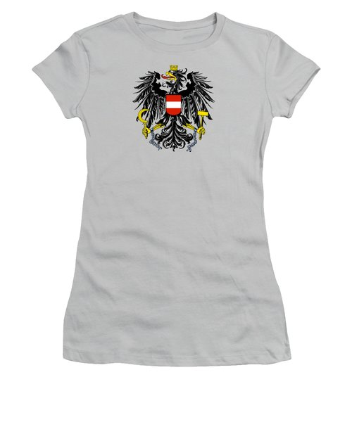 Austria Coat Of Arms Women's T-Shirt (Junior Cut) by Movie Poster Prints