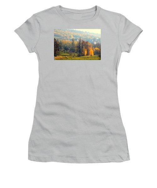 Autumn Morning Women's T-Shirt (Junior Cut) by Henryk Gorecki