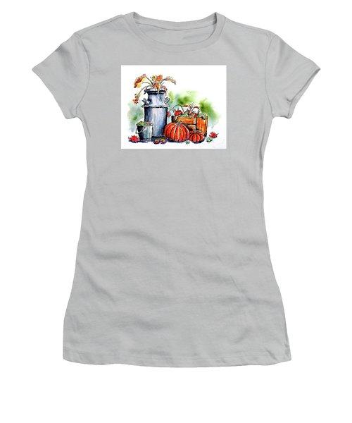 Autumn Still Life 1 Women's T-Shirt (Junior Cut) by Terry Banderas