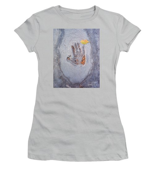 Autumns Child Or Hand In Concrete Women's T-Shirt (Athletic Fit)