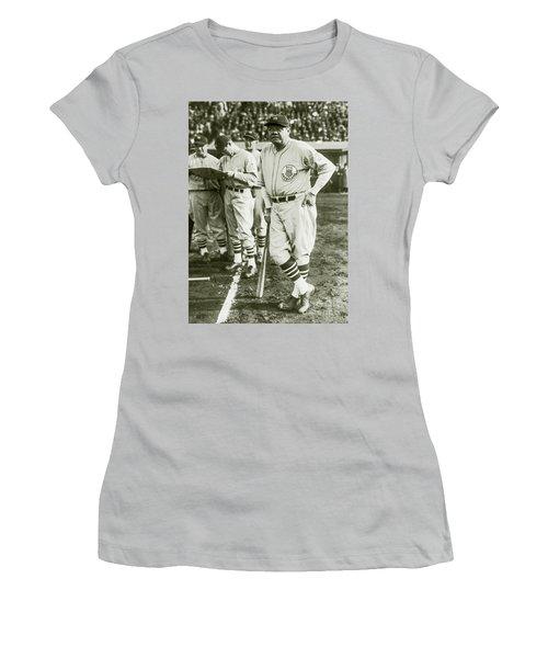 Babe Ruth All Stars Women's T-Shirt (Junior Cut) by Jon Neidert