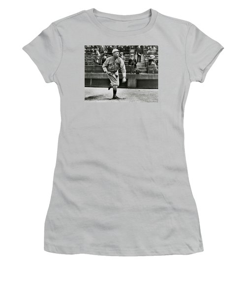 Babe Ruth - Pitcher Boston Red Sox  1915 Women's T-Shirt (Junior Cut) by Daniel Hagerman